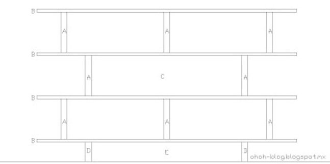 DIY Plywood Bookcase - Assembly Diagram