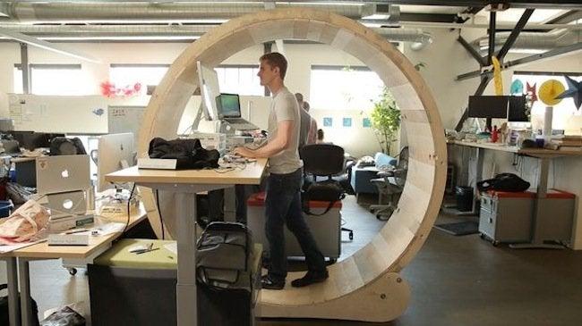 DIY Desk - Hamster wheel