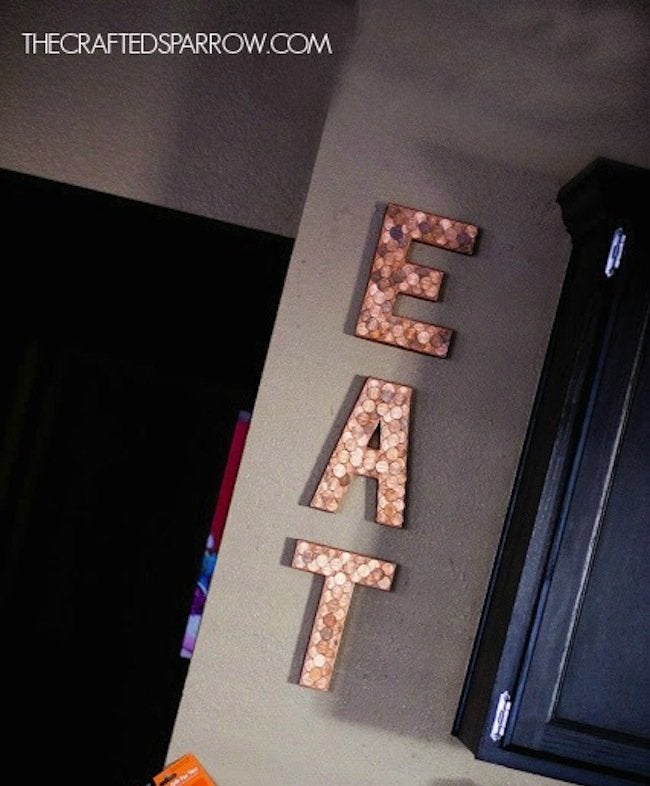 DIY Penny Letters - kitchen