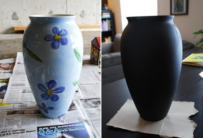 DIY Penny Vase - paint