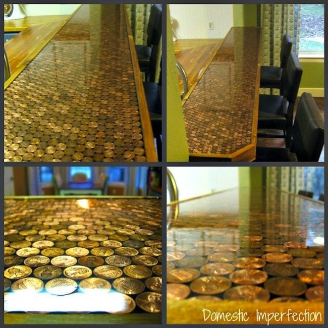 DIY penny countertop - epoxy