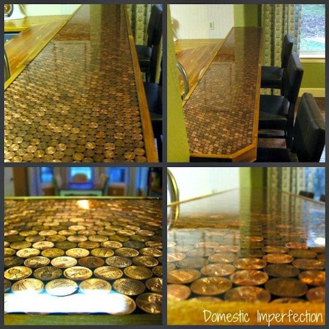 DIY penny countertop - epoxy