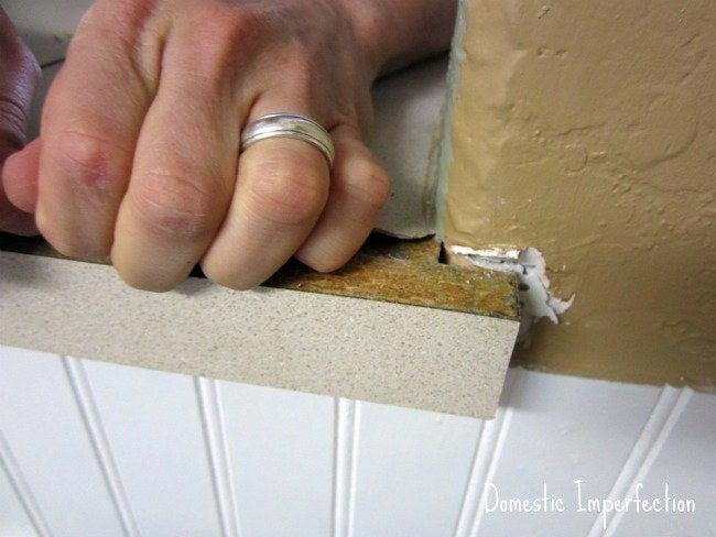 DIY penny countertops - remove laminate