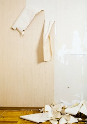 How to Remove Wallpaper Glue - In Progress