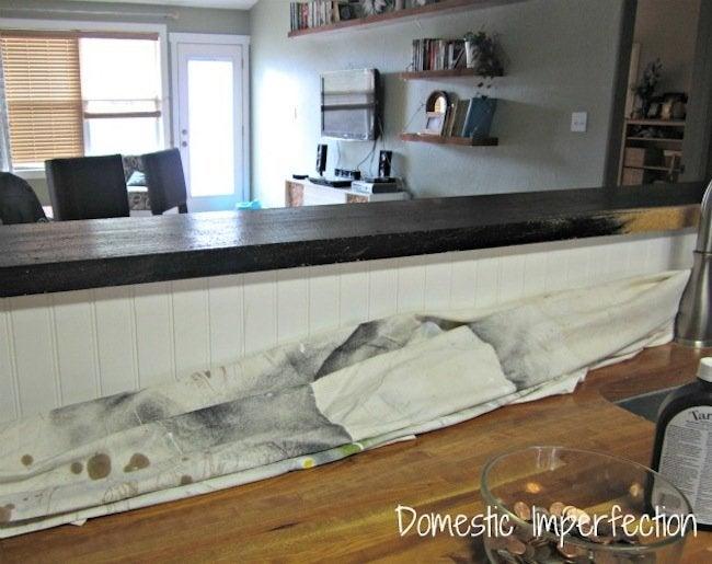 DIY penny countertop - paint