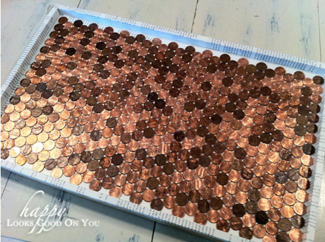 DIY Penny Tray - glued