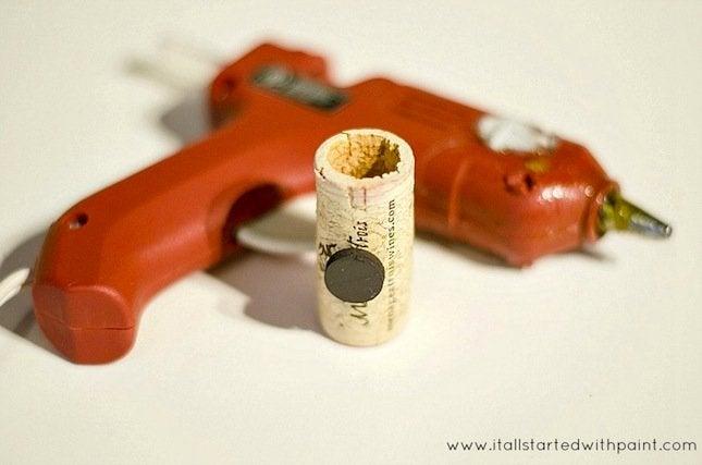 DIY Wine Cork Planter - magnet