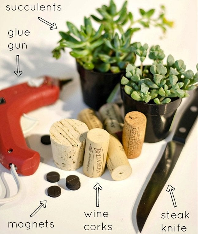 DIY Wine Cork Planter - materials