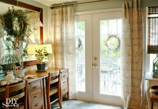 Uses for Drop Cloths - Curtains