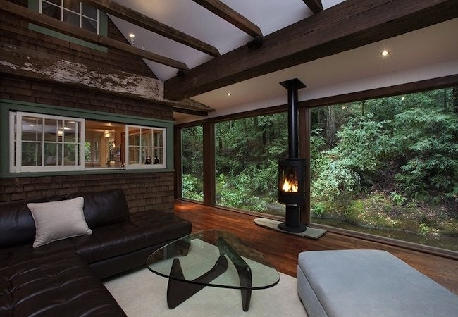 Amy Alper Creekside Cabin - Living Room