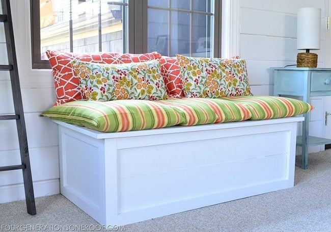 DIY Window Seat - Storage Bench