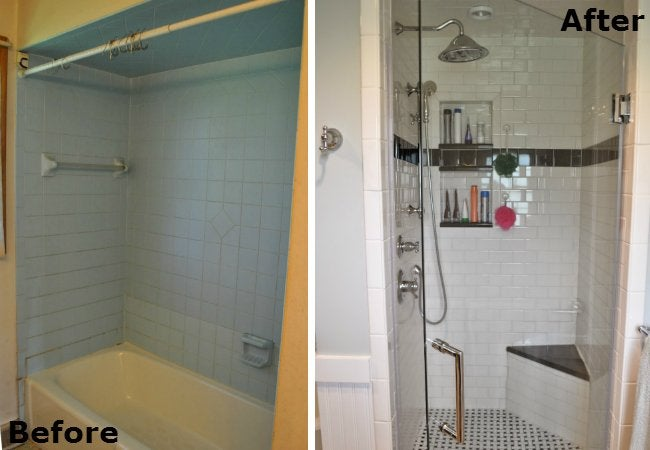 Small Bathroom Makeover - Shower