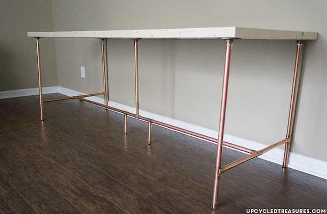 DIY Copper Pipe Desk - Thumbs Up