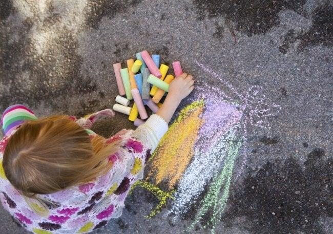 Uses for Eggshells - Sidewalk Chalk