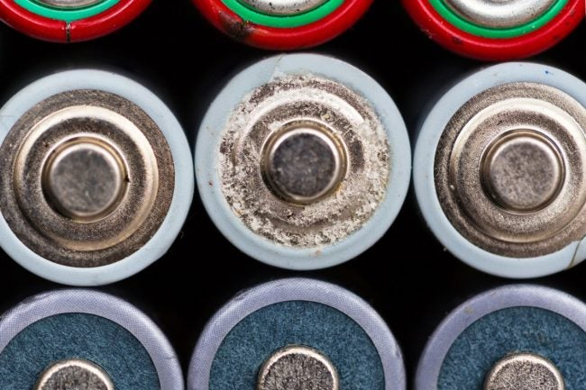 Batteries Corroded? Here's How to Clean Up a Leak