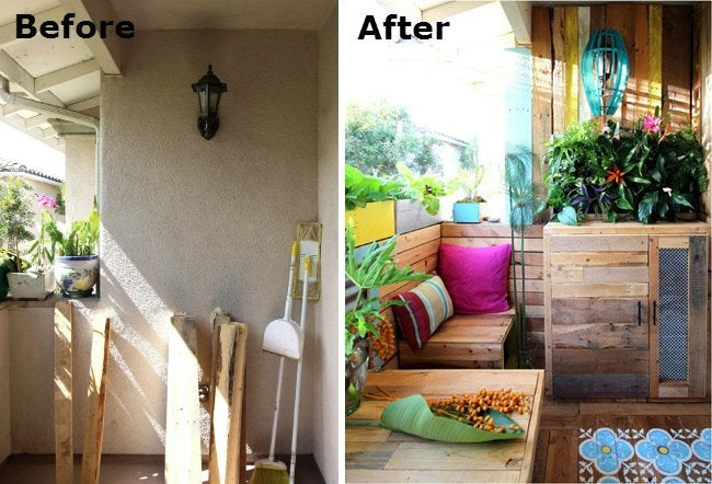 Patio Makeover - Before and After