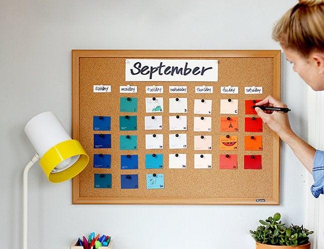 Paint Chips Crafts - Calendar