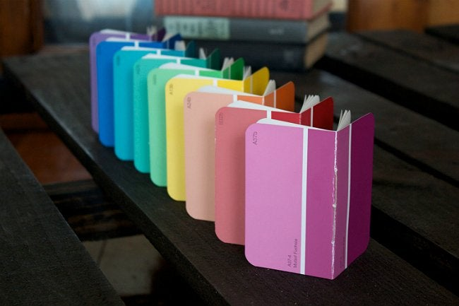 Paint Chip Crafts - Notebook