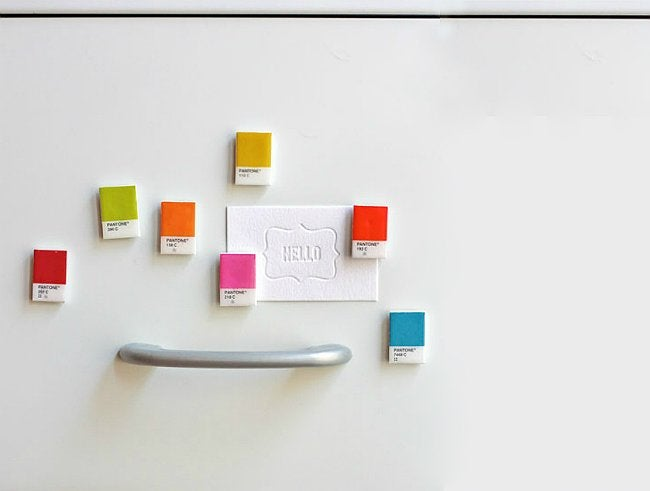 Paint Chip Crafts - Magnets