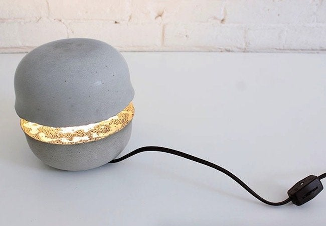 How to Make a Concrete Lamp - Complete Angle 2