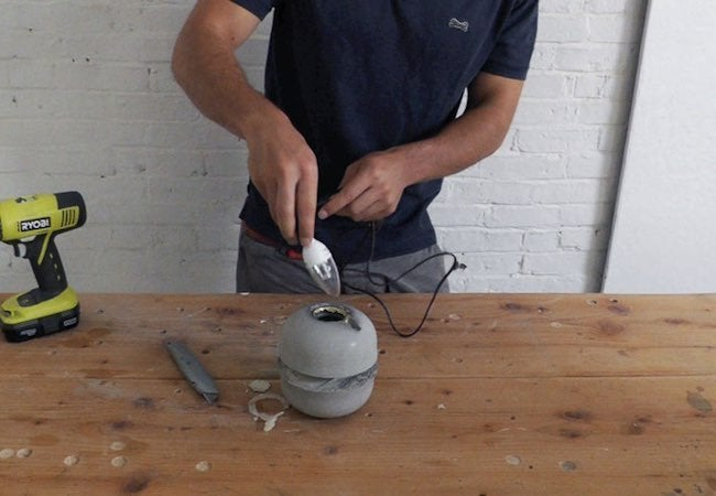 How to Make a Concrete Lamp - Bulb