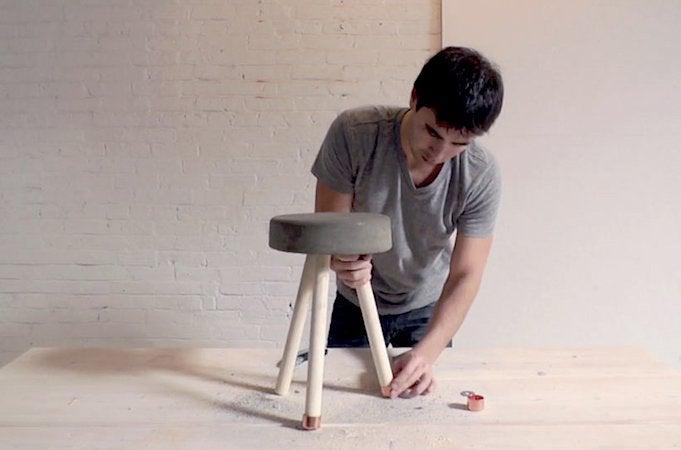 How to Make a Concrete Stool - Caps