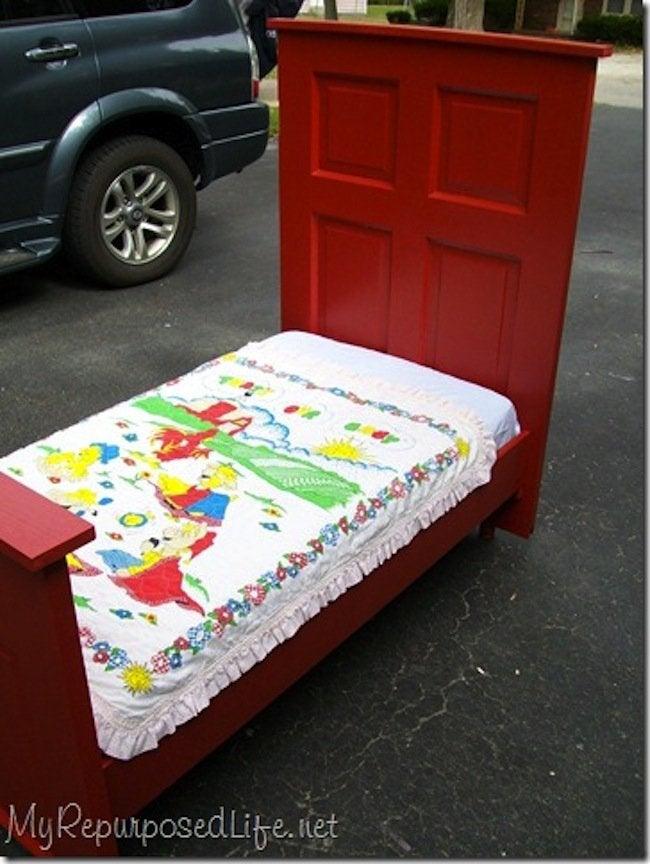 DIY Toddler Bed - finished