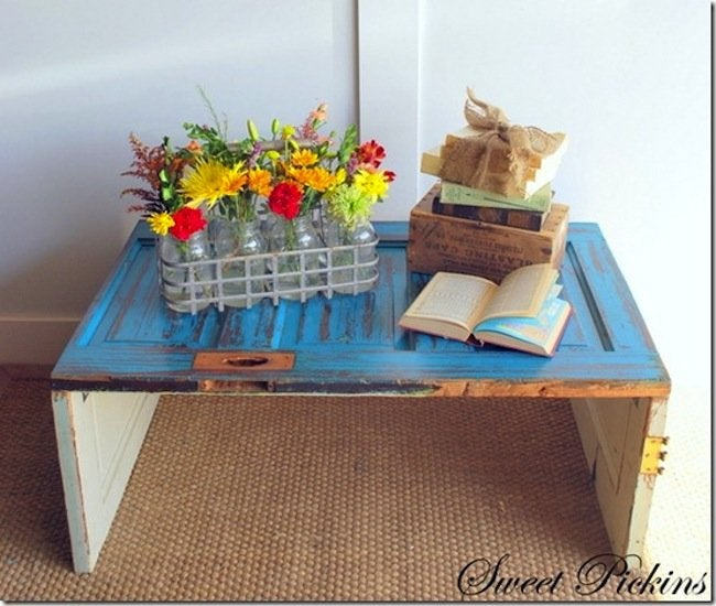 How to Make DIY Door Coffee Table