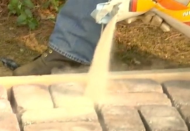 How to Build a Paver Patio - Joining Sand