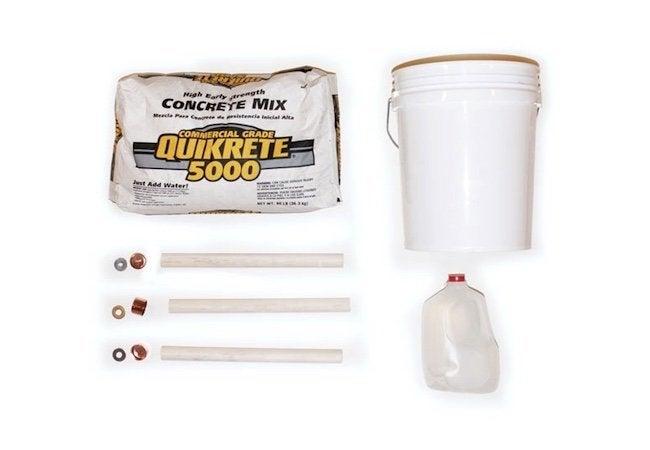 How to Make a Concrete Stool - Materials Array