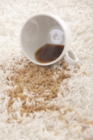 How to Remove Coffee Stains from Carpet - Spill Detail