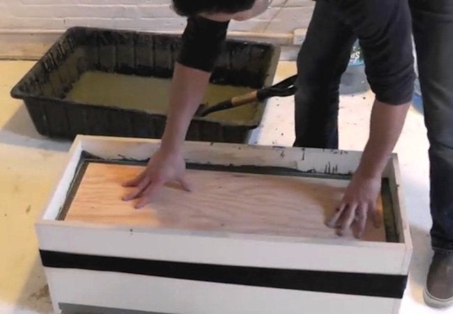 How to Make a Concrete Planter - Step 5