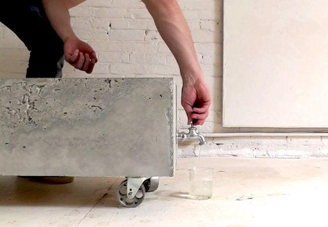 How to Make a Concrete Planter - Step 6