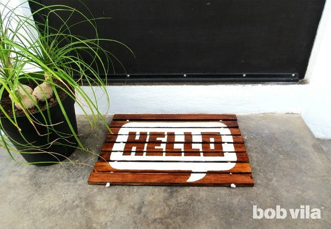 DIY Doormat - Outdoor Mat to Welcome Guests