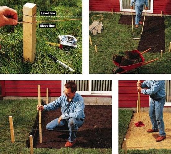 DIY Concrete Patio - Excavation