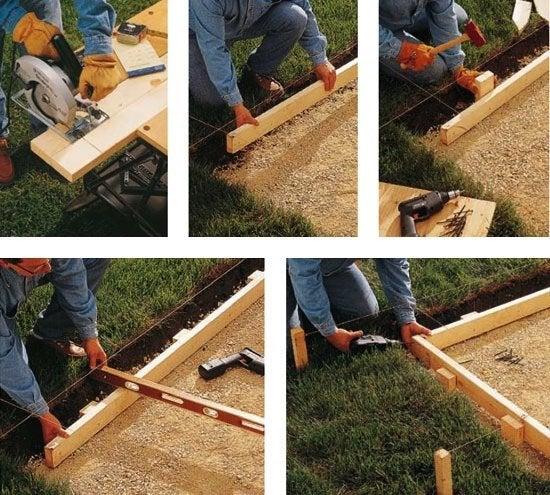 DIY Concrete Patio - Formwork
