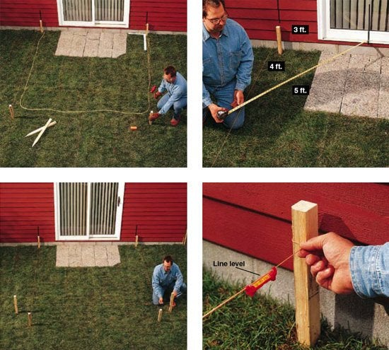 DIY Concrete Patio - Layout