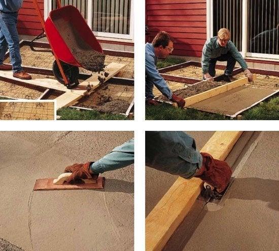 DIY Concrete Patio - Pouring & Finishing