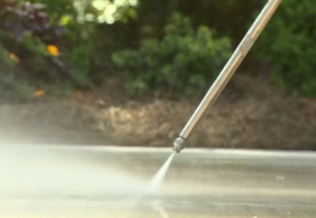 How to Resurface a Concrete Driveway - Pressure Washing Detail