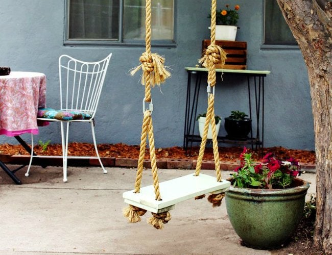DIY Swing Set - Tree Swing
