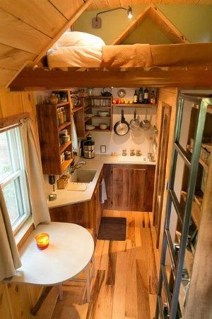 Tiny Home Living - Lofted Bed