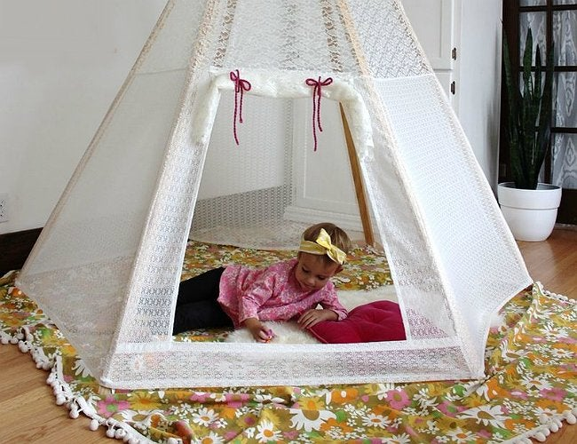 DIY Teepees - Lace
