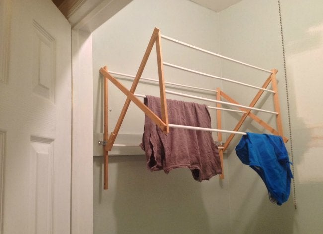 DIY Drying Rack - Wall-Mounted and Open