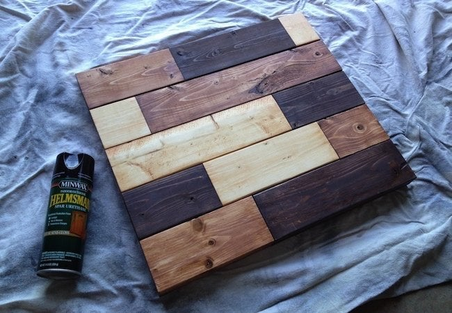 How to Make a Tabletop with 2x4s - Sealing Step