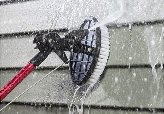 How to Clean Wood Siding - Scrub Spray
