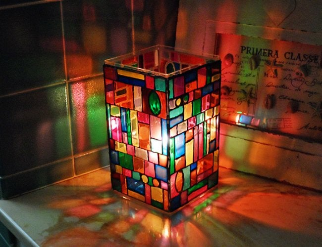 DIY Stained Glass - Luminary