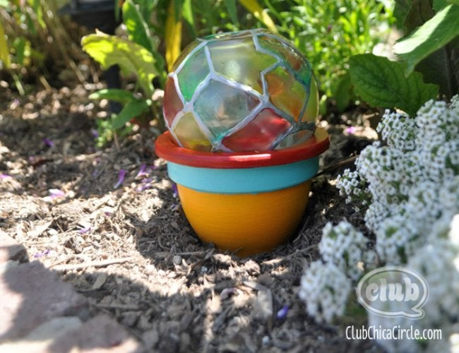 DIY Stained Glass - Garden Globe
