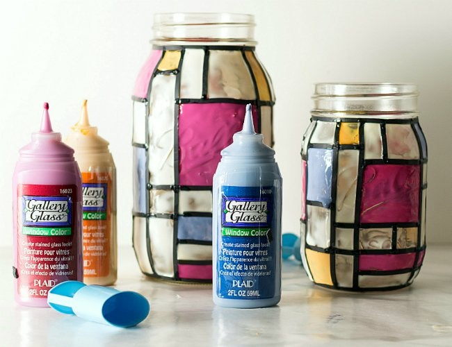 DIY Stained Glass - Mason Jars
