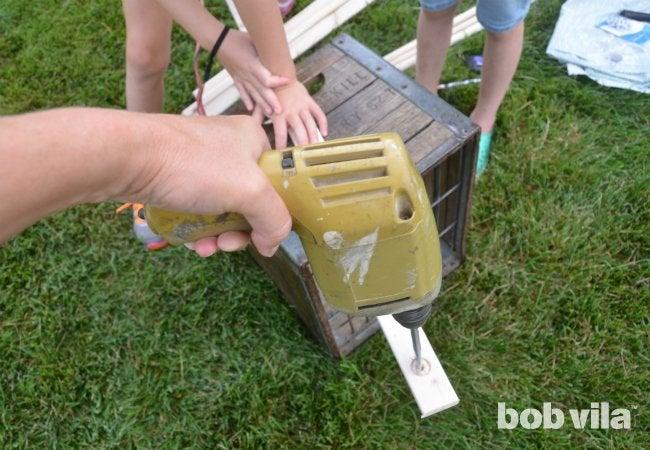 DIY Tent - Drilling Furring
