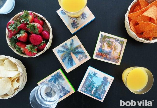 DIY Photo Coasters - Travel Souvenirs
